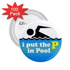 Funny Swiming Water 2.25  Buttons (100 pack)