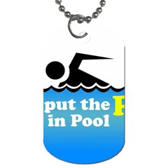 Funny Swiming Water Dog Tag (One Side)