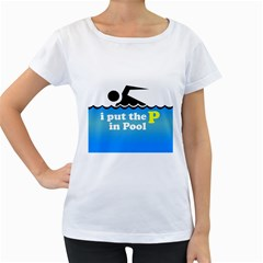 Funny Swiming Water Women s Loose-Fit T-Shirt (White)