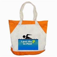 Funny Swiming Water Accent Tote Bag