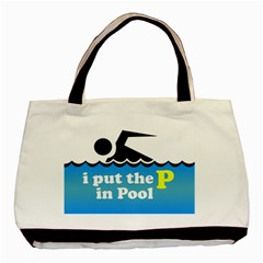 Funny Swiming Water Basic Tote Bag (Two Sides)