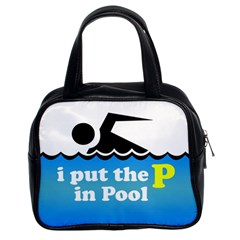 Funny Swiming Water Classic Handbags (2 Sides)