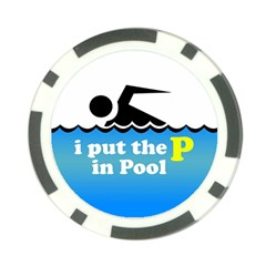 Funny Swiming Water Poker Chip Card Guards (10 pack)