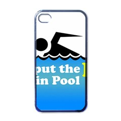 Funny Swiming Water Apple iPhone 4 Case (Black)