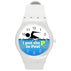 Funny Swiming Water Round Plastic Sport Watch (M)