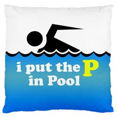 Funny Swiming Water Large Cushion Case (One Side)