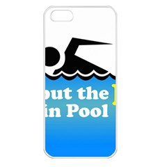 Funny Swiming Water Apple iPhone 5 Seamless Case (White)