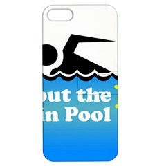 Funny Swiming Water Apple iPhone 5 Hardshell Case with Stand