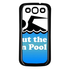 Funny Swiming Water Samsung Galaxy S3 Back Case (Black)