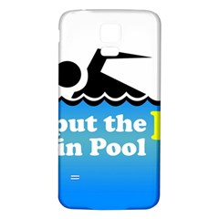 Funny Swiming Water Samsung Galaxy S5 Back Case (White)