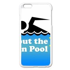 Funny Swiming Water Apple iPhone 6 Plus/6S Plus Enamel White Case