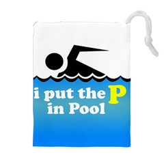 Funny Swiming Water Drawstring Pouches (Extra Large)