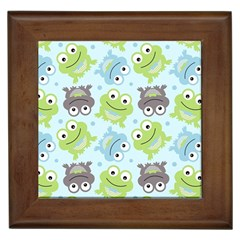 Frog Green Framed Tiles