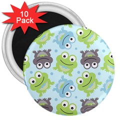 Frog Green 3  Magnets (10 pack)