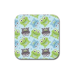 Frog Green Rubber Coaster (Square)