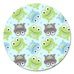 Frog Green Magnet 5  (Round)