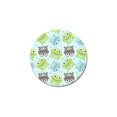 Frog Green Golf Ball Marker (4 pack)