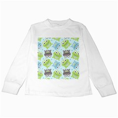 Frog Green Kids Long Sleeve T-Shirts