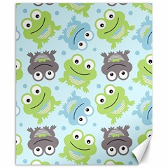 Frog Green Canvas 8  x 10