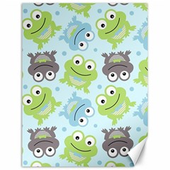 Frog Green Canvas 12  x 16