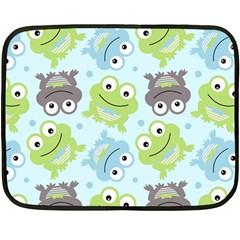 Frog Green Fleece Blanket (Mini)