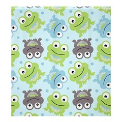 Frog Green Shower Curtain 66  x 72  (Large)