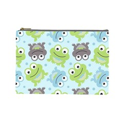 Frog Green Cosmetic Bag (Large)
