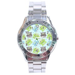 Frog Green Stainless Steel Analogue Watch