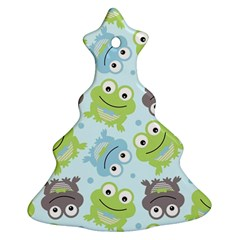 Frog Green Christmas Tree Ornament (2 Sides)