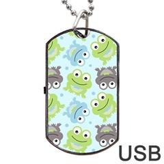 Frog Green Dog Tag USB Flash (One Side)