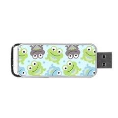 Frog Green Portable USB Flash (One Side)