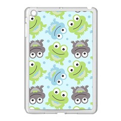 Frog Green Apple iPad Mini Case (White)