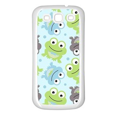 Frog Green Samsung Galaxy S3 Back Case (White)