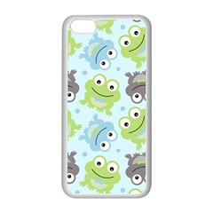 Frog Green Apple iPhone 5C Seamless Case (White)