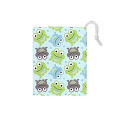 Frog Green Drawstring Pouches (Small)
