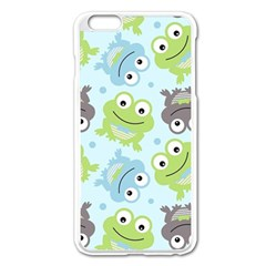 Frog Green Apple iPhone 6 Plus/6S Plus Enamel White Case