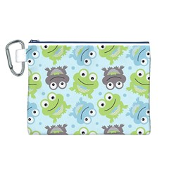 Frog Green Canvas Cosmetic Bag (L)