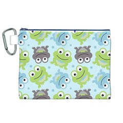 Frog Green Canvas Cosmetic Bag (XL)