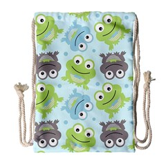 Frog Green Drawstring Bag (Large)