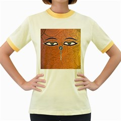 Face Eye Women s Fitted Ringer T-Shirts