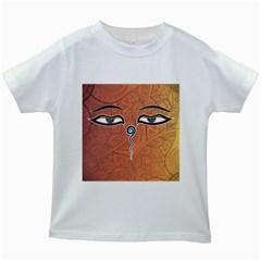 Face Eye Kids White T-Shirts
