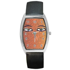 Face Eye Barrel Style Metal Watch