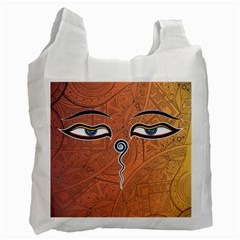 Face Eye Recycle Bag (One Side)