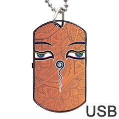Face Eye Dog Tag USB Flash (One Side)