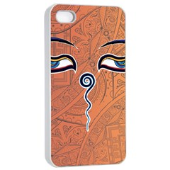 Face Eye Apple iPhone 4/4s Seamless Case (White)