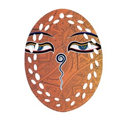 Face Eye Ornament (Oval Filigree)