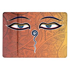 Face Eye Samsung Galaxy Tab 10.1  P7500 Flip Case