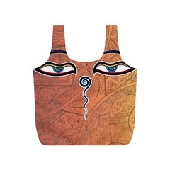 Face Eye Full Print Recycle Bags (S)