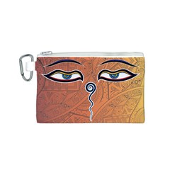 Face Eye Canvas Cosmetic Bag (S)