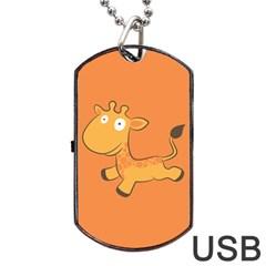 Giraffe Copy Dog Tag USB Flash (Two Sides)